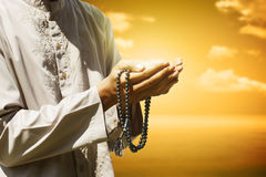 Hand Of Muslim People Praying Stock Images