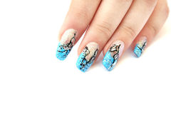 Hand with nail art Royalty Free Stock Photo