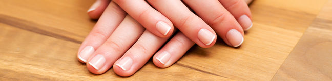 Hand and nail care banner Royalty Free Stock Photography