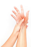 Hand nerve pain Stock Photography