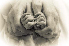 Hand of a newborn baby Stock Photography