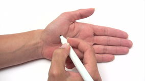 Hand Note - Sale stock footage