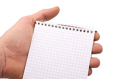 Hand with notepad 3 Royalty Free Stock Image