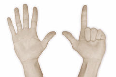 Hand Number 7 – seven Stock Images