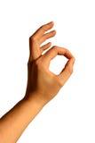 Hand-O.K.! Lizenzfreie Stockfotografie