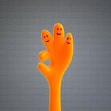 Hand O.K. teken Stock Fotografie