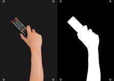 Hand och en maskering för att klippa Fotografering för Bildbyråer