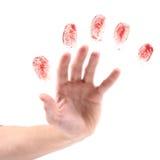 Hand och fingeravtryck Fotografering för Bildbyråer