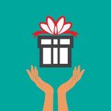 Hand- och gåvasymbol Arkivfoto