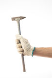 Hand och gammal hammare Royaltyfria Foton