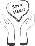 Hand och hjärta royaltyfri illustrationer