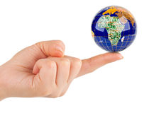 Hand och jord Arkivbild