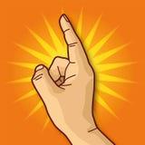 Hand och pekfinger Royaltyfria Foton