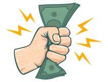 Hand och pengar royaltyfri illustrationer