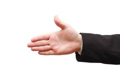 Hand Of Man Ready For Handshake Royalty Free Stock Photo