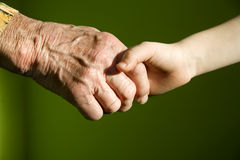 Free Hand Of Old Woman And Child Royalty Free Stock Photography - 12726487
