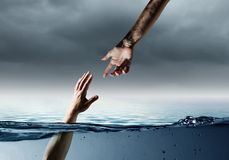 Hand Of Person Drowning In Water Royalty Free Stock Images