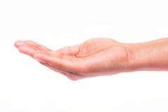 Hand offen Stockbild