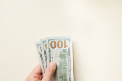 Hand offer three hundred dollars Stock Photography