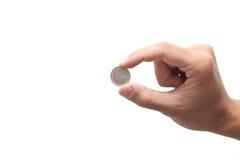 Hand offering an euro Stock Photos