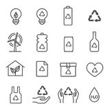 Hand Offering line icon set. Included the icons as give cash, credit card, mobile, document, smile, award and more. Hand Offering line icon set. Included the Royalty Free Stock Photography