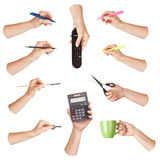 Hand office tool set Royalty Free Stock Photos