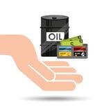 Hand oil industry barrel wallet money Stock Photos