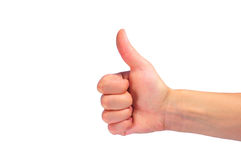 Hand with ok Royalty Free Stock Images