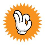 Hand with Ok gesture Stock Photo