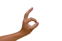 Hand - Ok sign. Sign ok with hand Royalty Free Stock Images