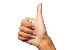 Hand OK sign. Over isolated background Royalty Free Stock Photo