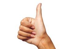 Hand OK sign Royalty Free Stock Photo