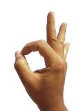 hand ok sign стоковое изображение rf