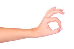 Hand OK sign. Isolated on white background Royalty Free Stock Image