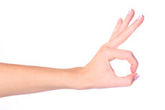 Hand OK sign Royalty Free Stock Image