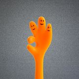 Hand OK sign. On background Stock Photography