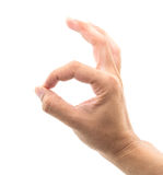 Hand OK sign Royalty Free Stock Photography