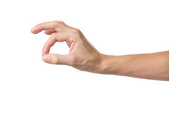 Hand OK sign on white background. Ok. Gesture of the hand on white background Royalty Free Stock Image