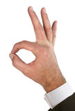Hand OK signal Royalty Free Stock Image