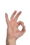 hand okay sign Стоковая Фотография RF