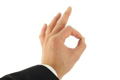 Hand Okay Sign Stock Photography