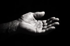 The hand of the old man Royalty Free Stock Photos