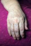 Hand of an old woman Stock Photos