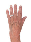 Hand of an old woman Stock Images