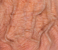 Hand of an old woman Royalty Free Stock Images