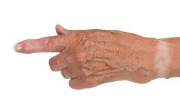 Hand of an old woman Royalty Free Stock Image