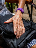 Hand of an old woman Royalty Free Stock Photo