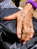 Hand of an old woman Royalty Free Stock Photos