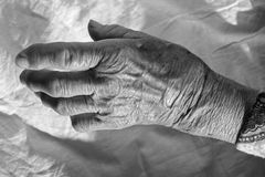 Hand of old woman Royalty Free Stock Images