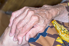Hand old woman Stock Photos